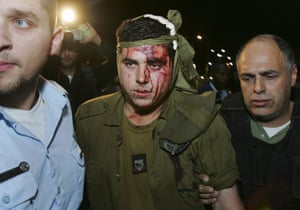 Gallery Gaza: An Israeli soldier wounded in the Gaza Strip
