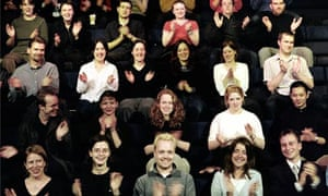 Theatre audience clapping