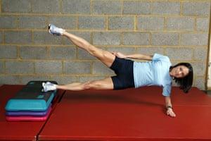 Gallery Strength training:  Jo Pavey: side-lying leg lifts