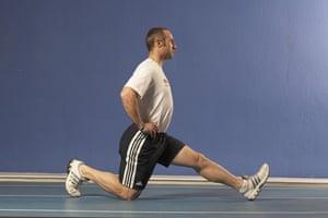 Jamie Staff, hamstring stretch