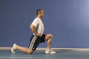 Jamie Staff, hip flexor stretch