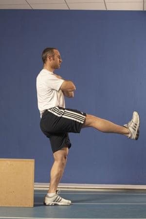 Jamie Staff, single-leg box squat