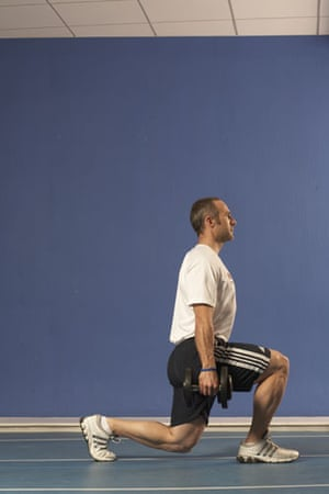 Jamie Staff, dumbbell lunge
