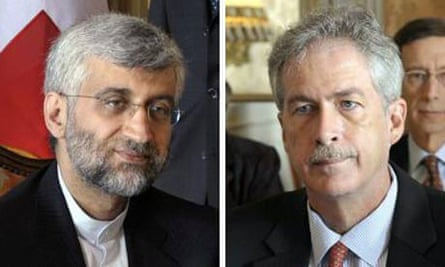 Iranian diplomat Saeed Jalili andUS negotiator William Burns