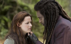 Twilight New Moon: Twilight New Moon: Kristen Stewart and Edi Gathegi