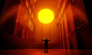 Olafur Eliasson's art installation 'The Weather Project' in the Turbine Hall of the Tate Modern
