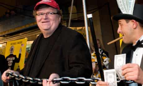 Michael Moore at the premiere of 'Capitalism: A Love Story', Washington, DC, Sept 29, 2009