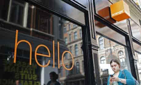 Orange mobile phone shop