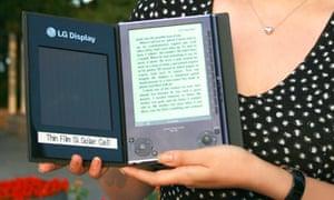 LG Display's solar-powered e-book reader