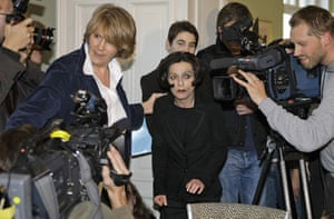 Herta Müller: Herta Müller holds a news conference in Berlin