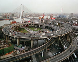 Edward Burtynsky Oil: Nanpu Bridge Interchange, Shanghai, China, 2004