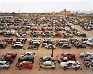 Edward Burtynsky Oil: Auto Wreckers #1, Tucson, Arizona, 2006