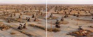 Edward Burtynsky Oil: Oil Fields #19a & #19b, Belridge California 2003
