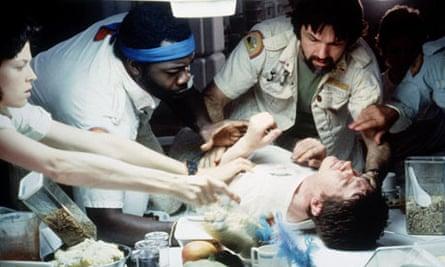 The chestburster scene in Alien.