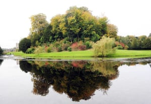 Autumn: Autumn colours on display in the grounds of Fountains Abbey near Ripon