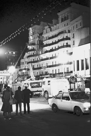 Brighton bombing 1984: The scene outside the Grand Hotel, Brighton after the explosion