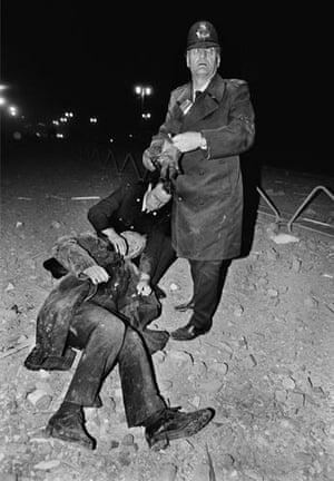 Brighton bombing 1984: The scene outside the Grand Hotel in Brighton after a bomb attack