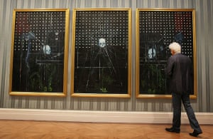Damien Hirst No Love Lost: A visitor looks at Men Shall Know Nothing 2008