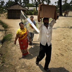 Earth Alert: Solar cooker at a Bhutanese refugee settlement, Nepal