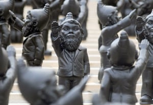 Hitler gnomes: installation called Dance with the Devil in Straubing, Germany