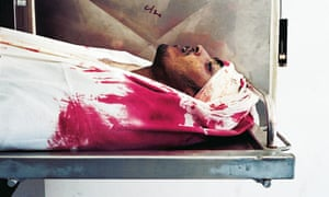 Palestinian killed by Israeli forces in Gaza, 2004.