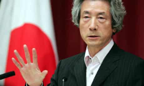 Japan's Prime Minister Koizumi speaks during news conference at his official residence in Tokyo