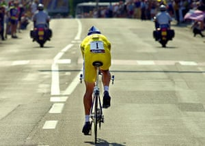 10 years: Lance Armstrong rides to victory