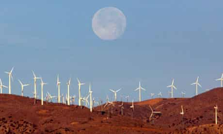 Wind farm in the Mojave desert