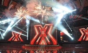 X Factor light show