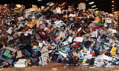 Graveyard of Electrical Goods at recycling plant in Billingham