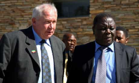 MDC minister Roy Bennet, pictured with Morgan Tsvangirai, was arrested this week