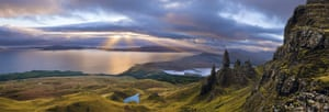Landscape photograph: Light falling through the clouds over the Isle of Skye
