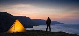 Landscape photograph: Wild camping on St. Abbs Head, Scotland