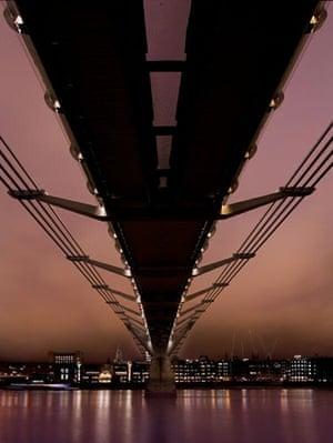 Landscape photograph: The Millennium Bridge at dusk, London, England