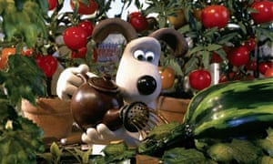 Gromit waters plants in the Wallace & Gromit film The Curse of the Were-Rabbit