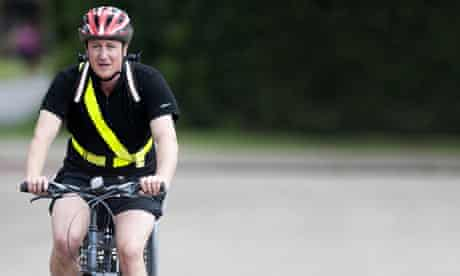 Felicity blog on Tories : David Cameron Arrives At Work On His Bicycle