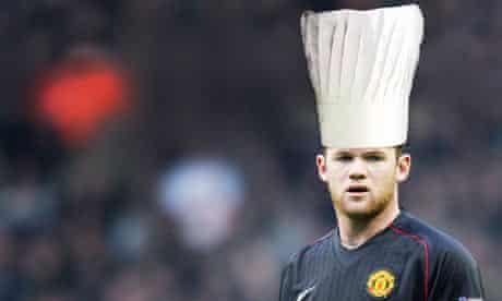 Wayne Rooney chef's hat