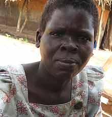 Katine居住在艾滋病毒阳性的Sarah Arawo