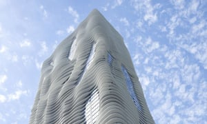 Aqua building in Chicago designed by Jeanne Gang of Studio Gang Architects