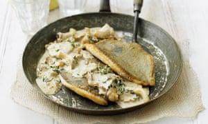 John dory with lemon thyme and wild mushrooms recipe for John dory recipe