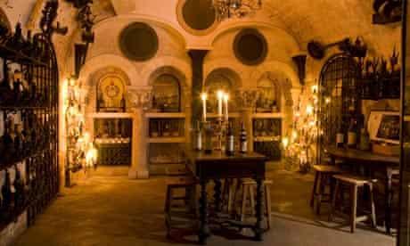 The wine cellar of the La Tour d'Argent restaurant