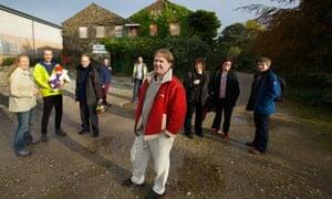 residents in co-housing scheme