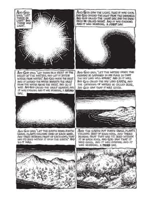 R Crumb's Genesis: Second page of The Book Of Genesis illustrated By R Crumb.