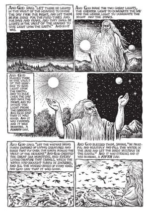 R Crumb's Genesis: Page three of The Book Of Genesis illustrated by R Crumb