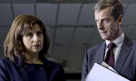 Rebecca Front as Nicola and Peter Capaldi as Malcolm in The Thick of It.