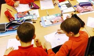 Primary school class, Oxfordshire