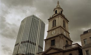 St Helen's church in the heart of the City of London.