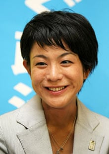 Eriko Fukuda smiles after winning her seat in parliament, in August.