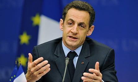 Nicolas Sarkozy at a European Council summit