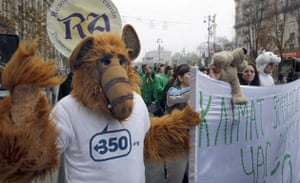 350 Climate Change: Kiev, Ukraine climate change 350.org protests